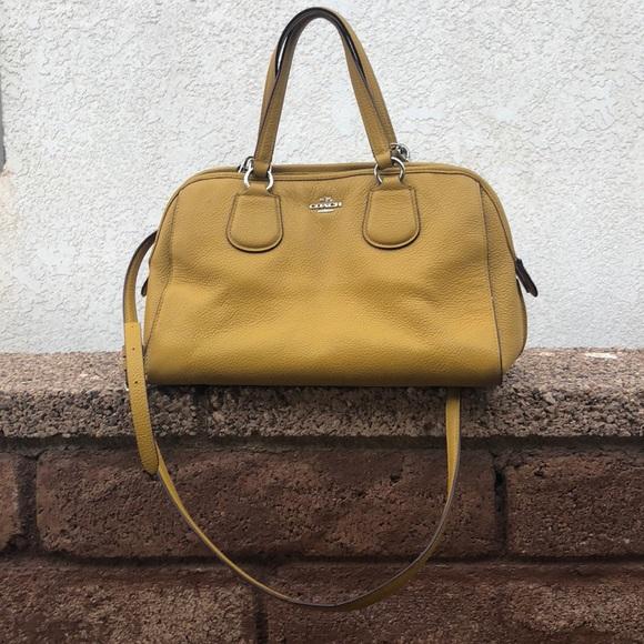 21ac62cfa033 Coach Handbags - Mustard Yellow Coach Purse